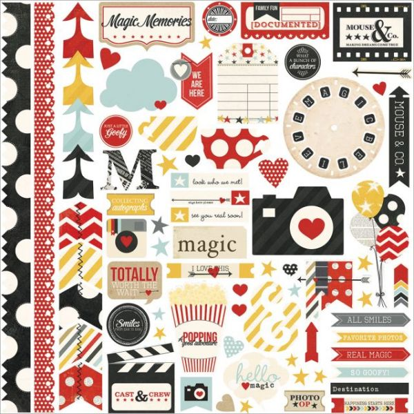 "Say Cheese Cardstock Stickers 12""X12"""