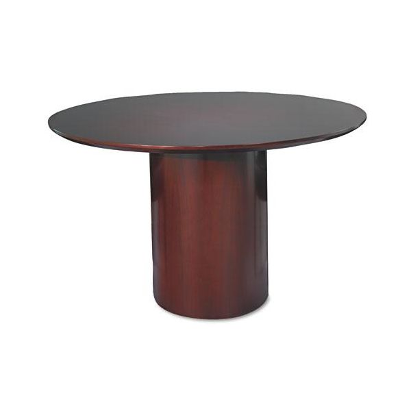 "Tiffany Industries Napoli Series 48"" Round Conference Table Base, Mahogany"