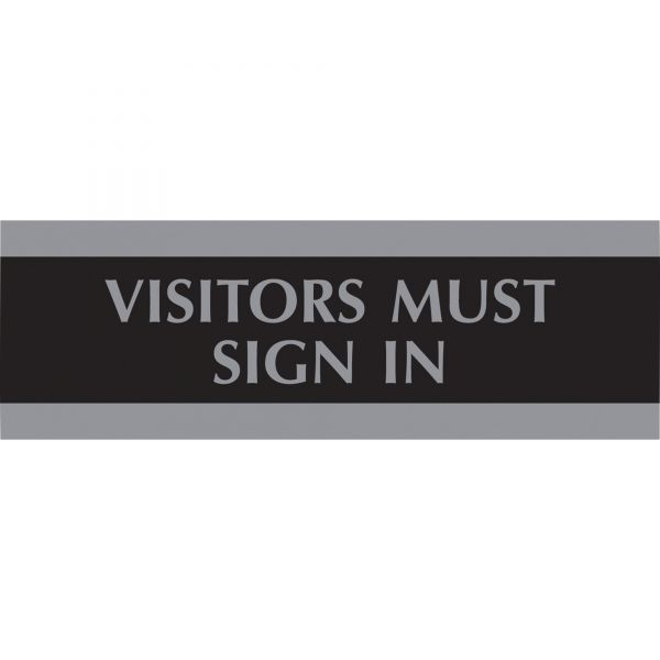 "U.S. Stamp & Sign ""Visitors Must Sign In"" Sign"