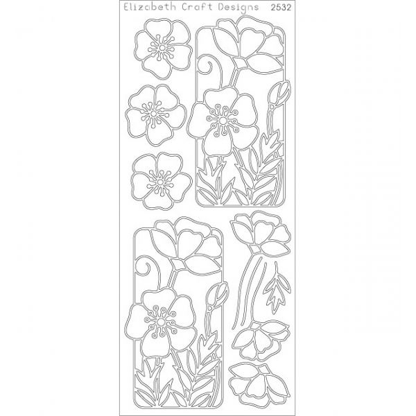 Flower Poppy Peel-Off Stickers