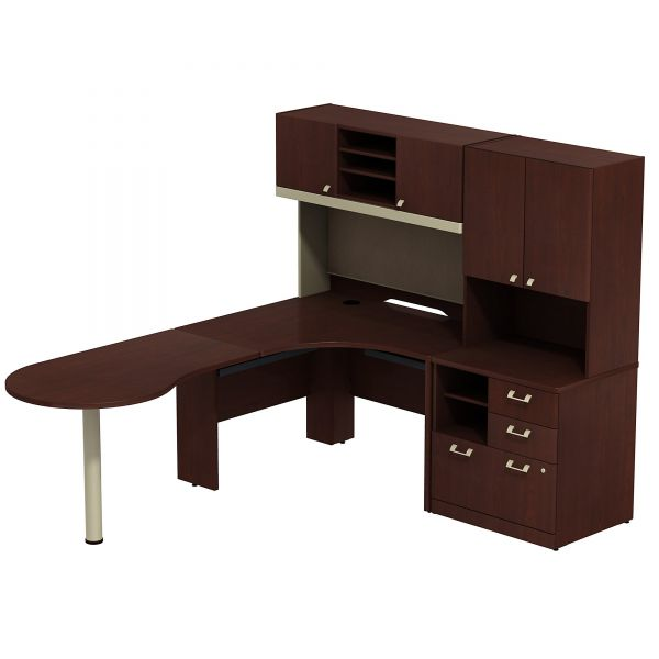 bbf Quantum Professional Configuration - Harvest Cherry finish by Bush Furniture