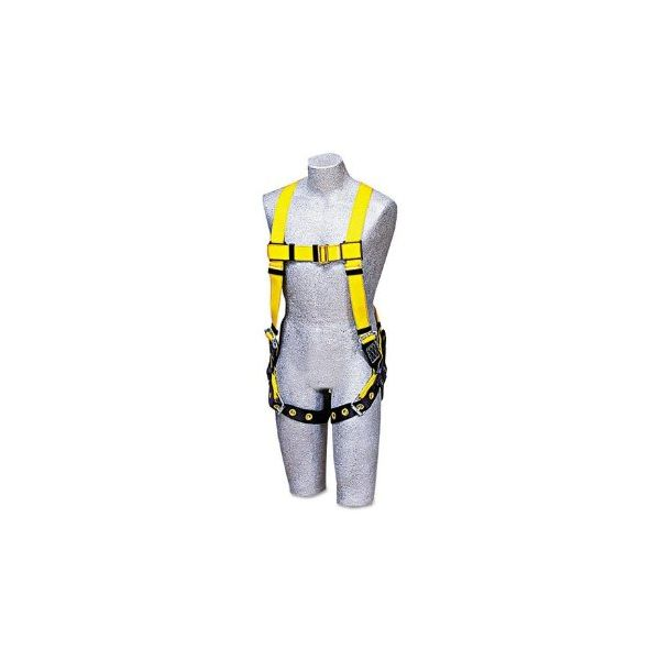 DBI-SALA Full-Body Harness, Tongue Buckles, Back D-Ring, Universal, 420lb Capacity