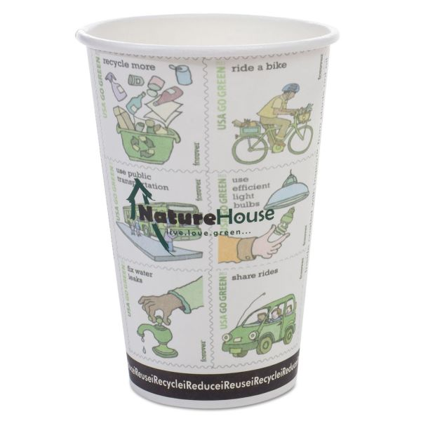 NatureHouse Compostable 16 oz Paper Coffee Cups