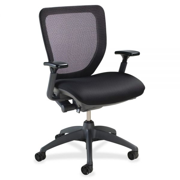 Lorell Mesh-back Task Chair with Synchro Knee Tilt