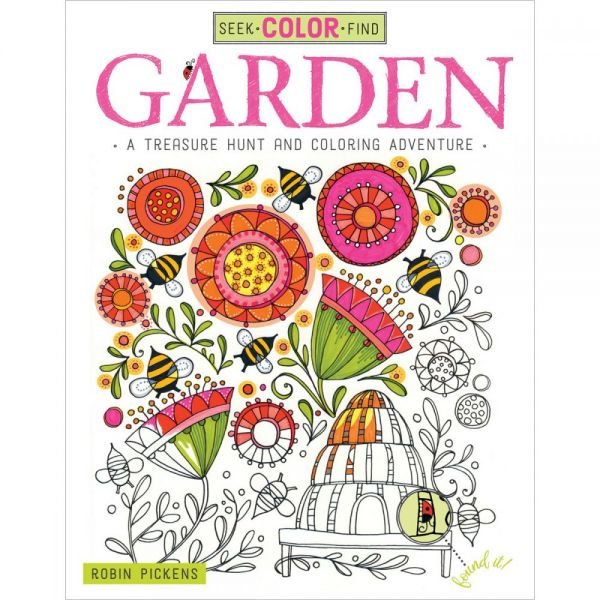 Design Originals: Seek-Color-Find Garden Coloring Book