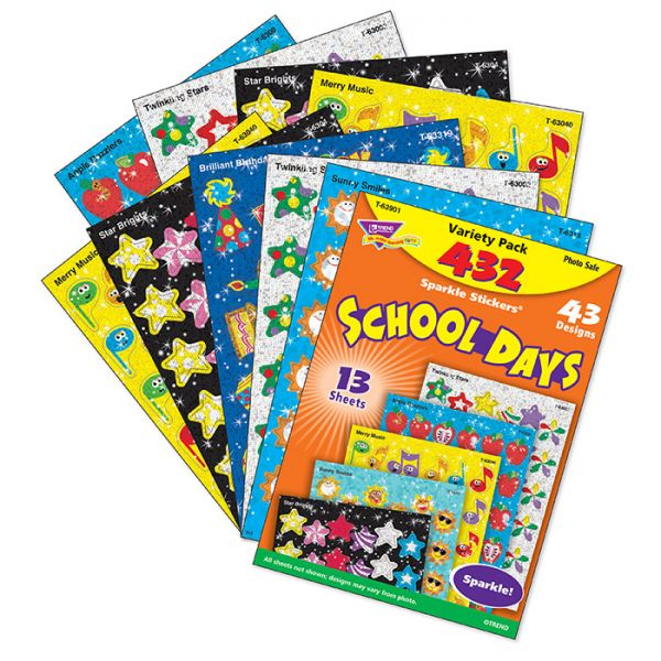Trend School Days Sparkle Stickers Variety Pack