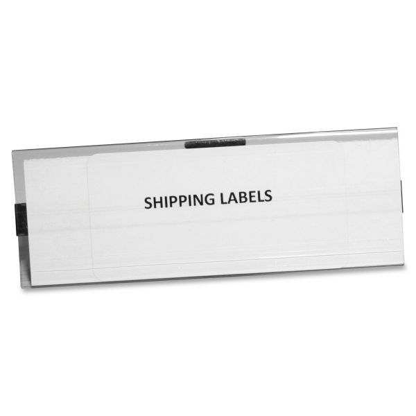 Panter Company Clear Magnetic Label Holders, 6 x 2, Clear, 10 per Pack