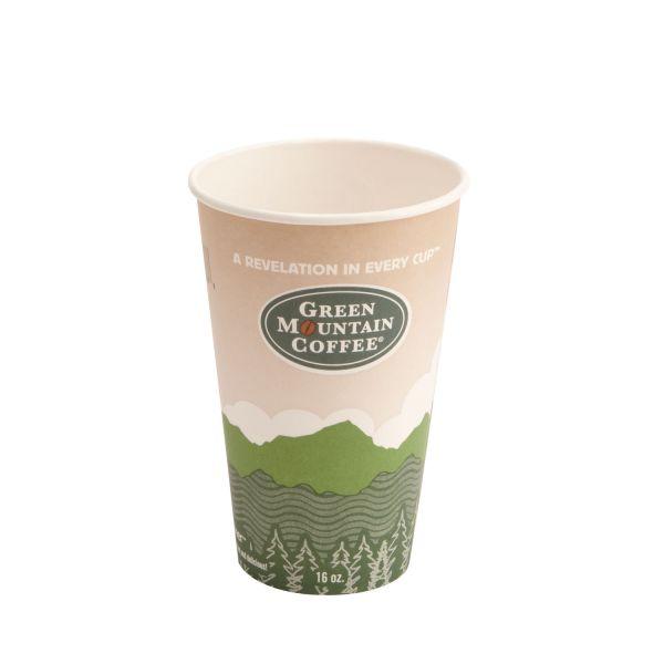 Green Mountain Coffee 16 oz Paper Coffee Cups
