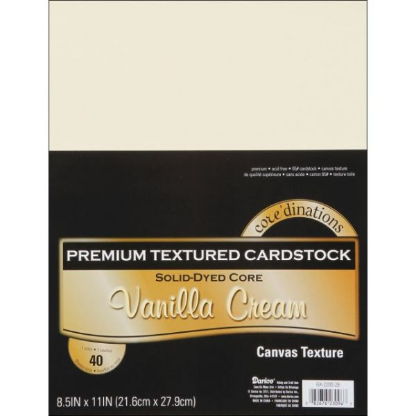Core'dinations Premium Textured Vanilla Cream Cardstock