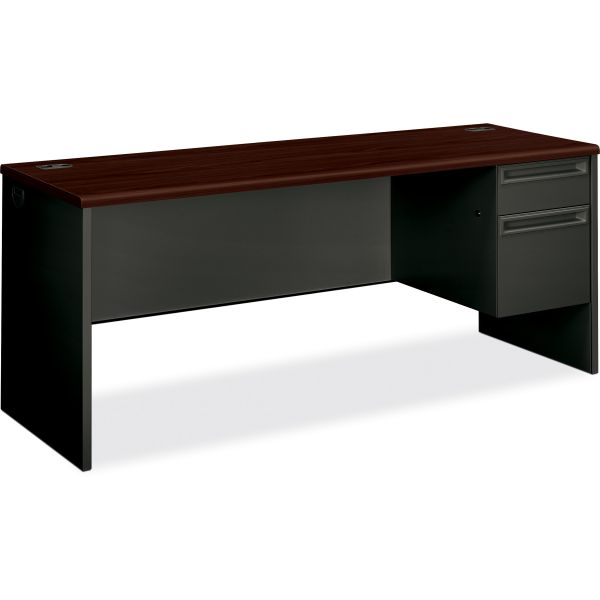 HON 38000 Series Single Pedestal Computer Desk