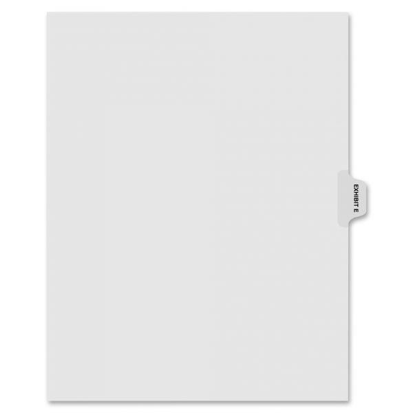 "Kleer-Fax 80000 Series Legal Index Dividers, Side Tab, Printed ""Exhibit E"", 25/Pack"