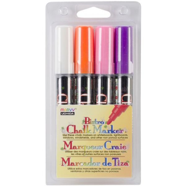 Bistro Chalk Marker 6mm Point Set 4/Pkg
