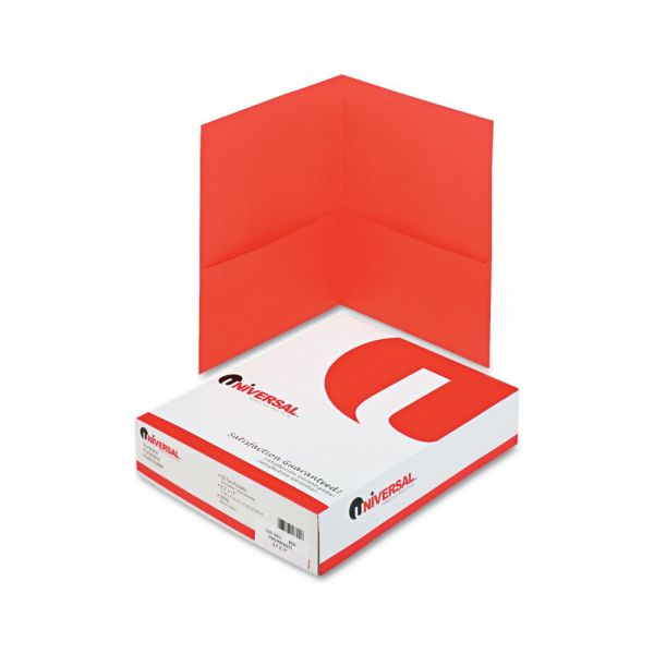 Universal Red Two Pocket Folders