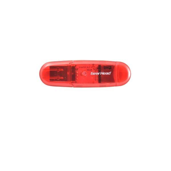 Gear Head CR3200MSDRED USB 2.0 Flash Reader