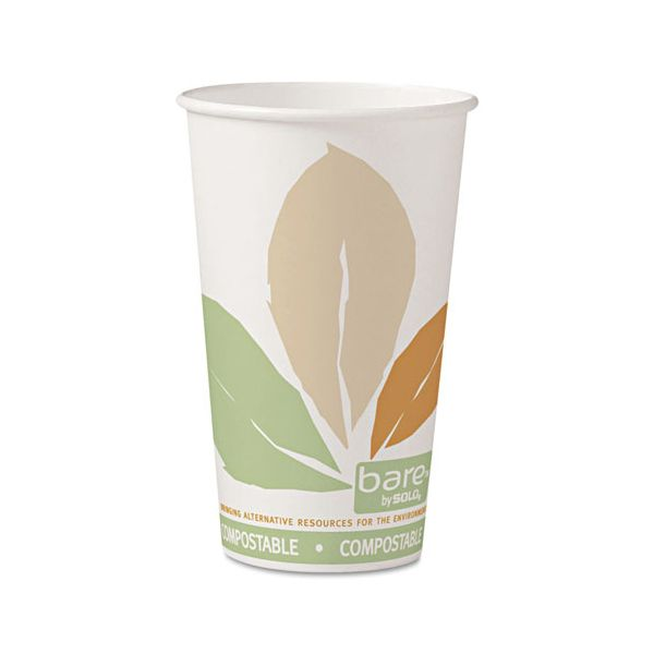 SOLO Cup Company Bare 16 oz Paper Coffee Cups