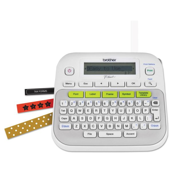 Brother P-Touch PT-D210 Easy, Compact Label Maker, 2 Lines