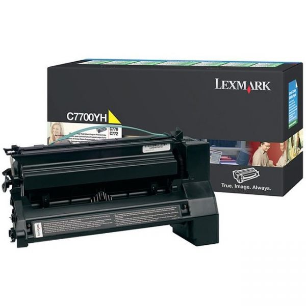 Lexmark C7700YH High-Yield Toner, 10000 Page-Yield, Yellow
