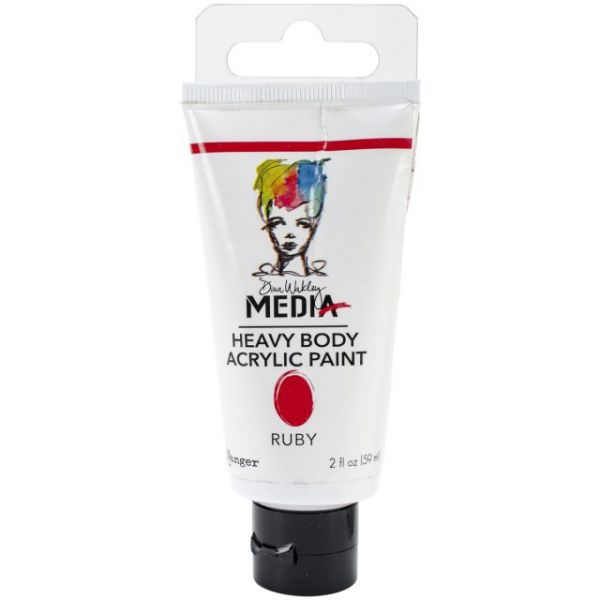 Dina Wakley Media Heavy Body Ruby Acrylic Paint