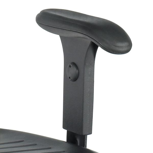 Safco Height-Adjustable T-Pad Arms for Workbench Chair and Utility Chair, Black