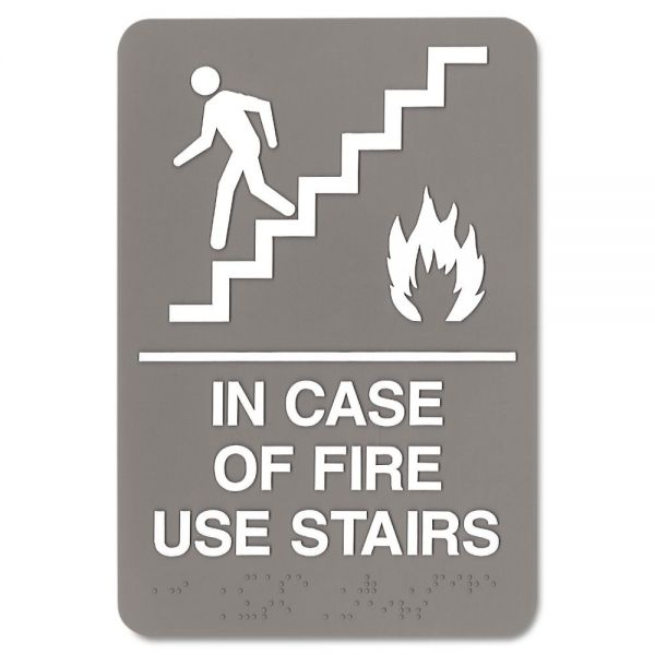 "Headline Sign ""In Case of Fire Use Stairs"" Sign"