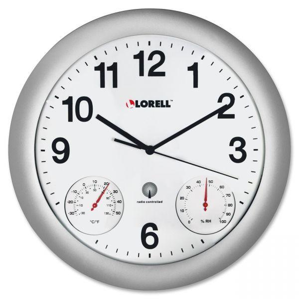 Lorell Temperature/Humidity Wall Clock