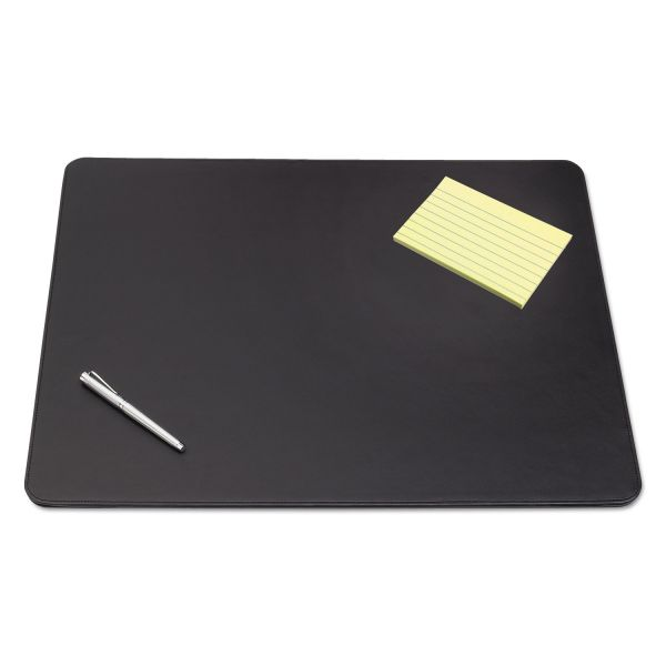 Artistic Westfield Designer Desk Pad with Decorative Stitching, 38 x 24, Black