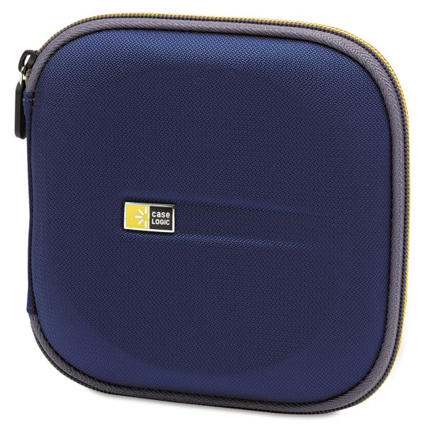 Case Logic Molded EVA CD/DVD Wallet, Holds 24 Discs, Blue