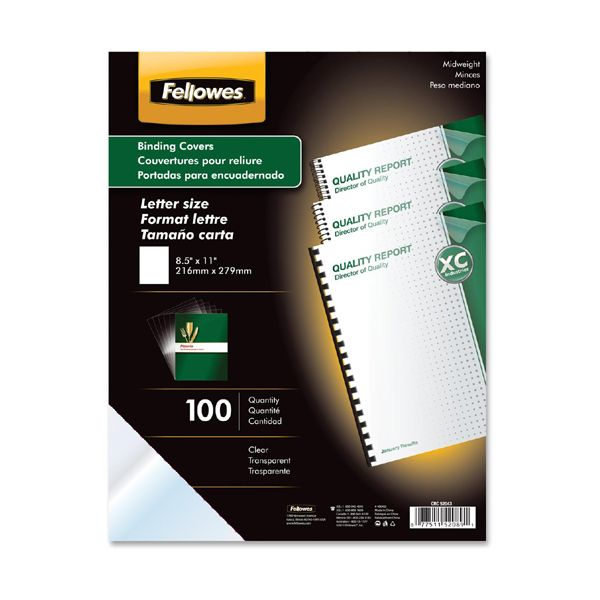 Fellowes Clear Binding Covers