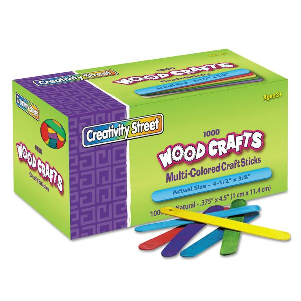 Creativity Street Colored Wood Craft Sticks
