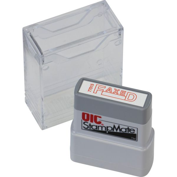 OIC Self-inking Fax/Date Stamp