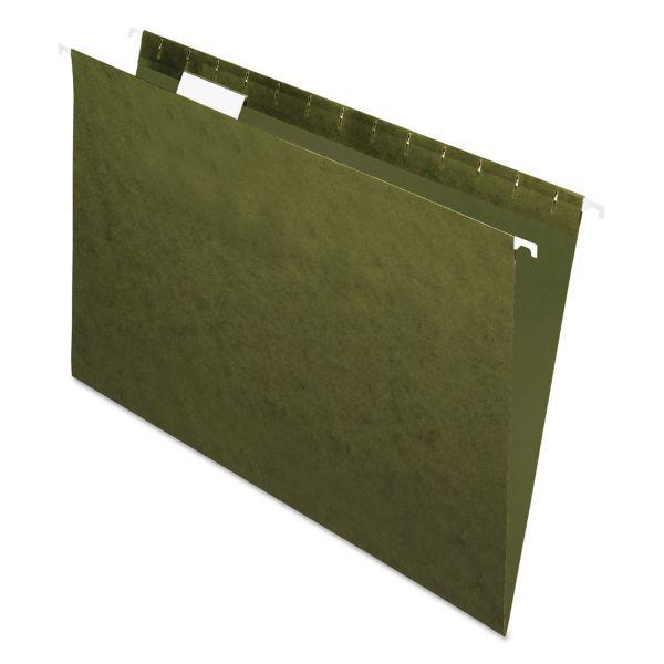Pendaflex Standard Green Hanging Folders, 1/5 Tab, Legal, 25/Box
