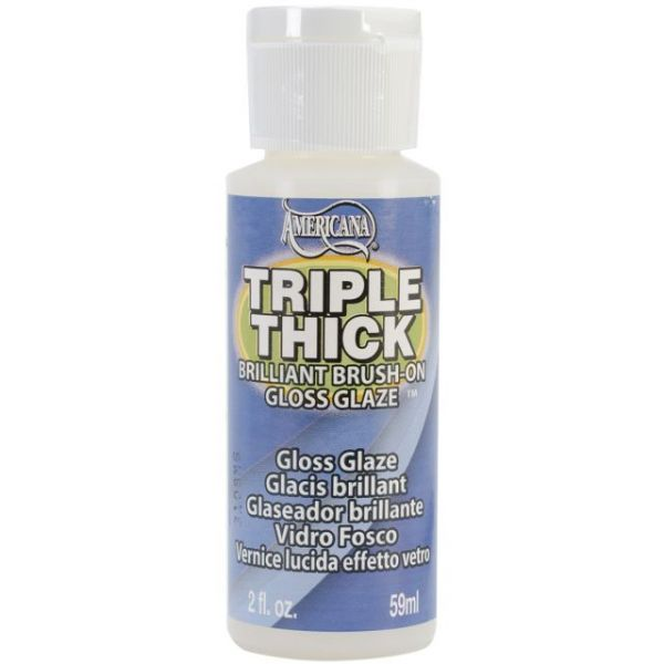 Triple Thick Brilliant Brush-On Gloss Glaze 2oz