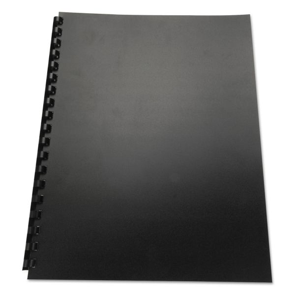Swingline GBC 100% Recycled Poly Binding Cover, 11 x 8-1/2, Black, 25/Pack