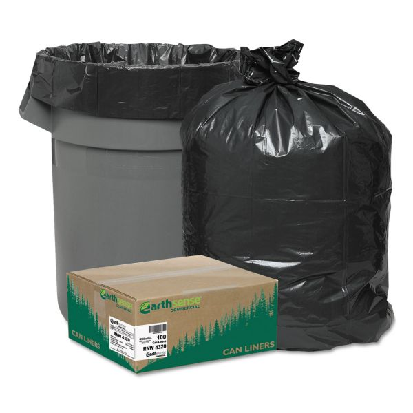 Earthsense Recycled 56 Gallon Trash Bags