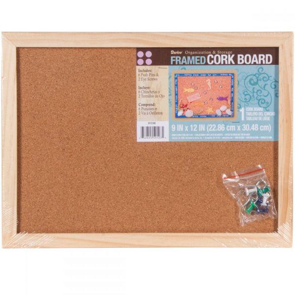 """Framed Cork Memo Board 9""""X12"""""""