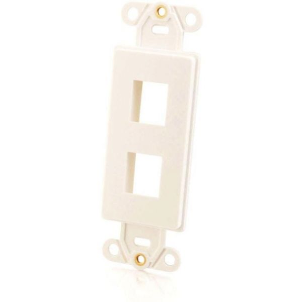 C2G Decora Style 2-Port Multimedia Keystone Insert - White
