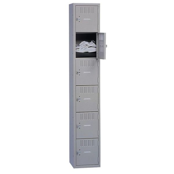 Tennsco 6-Tier No Legs Steel Box Lockers