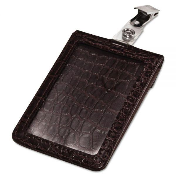Advantus Croc-Textured Badge Holders