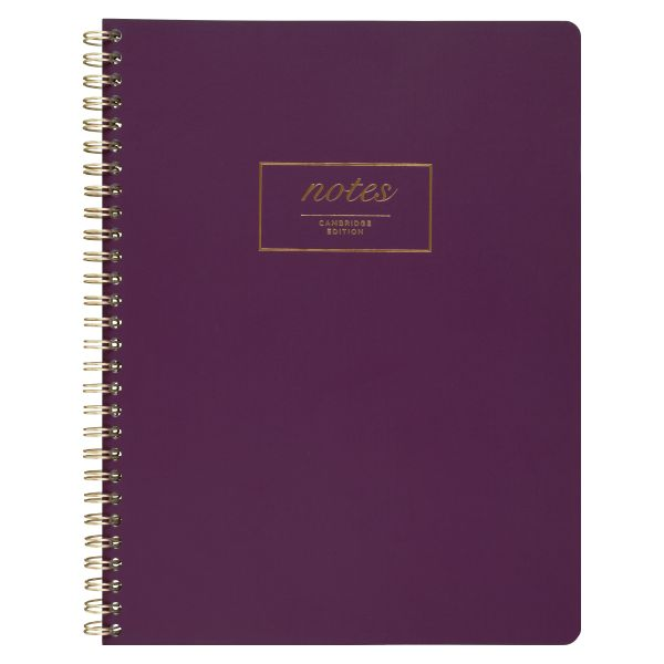 Cambridge Fashion Twinwire Business Notebook, 9 1/2 x 7 1/4, Purple, 80 Sheets