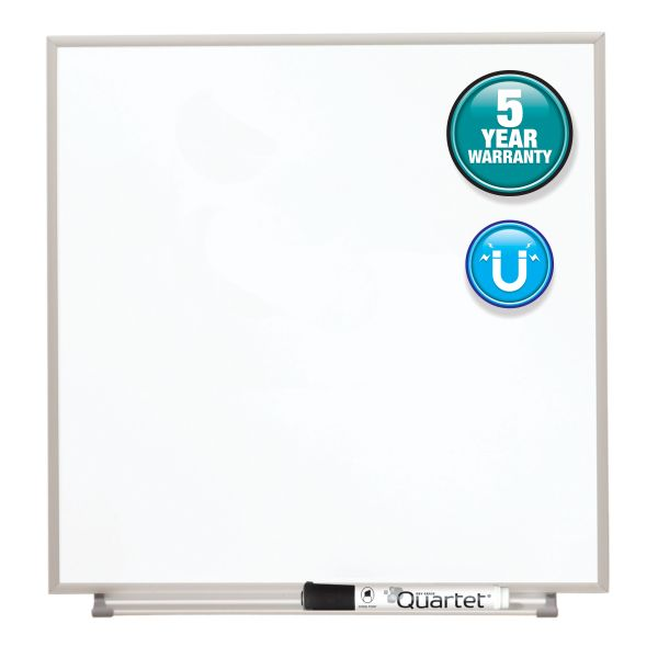 "Quartet 16"" x 16"" Matrix Magnetic Painted Steel Dry Erase Whiteboard"