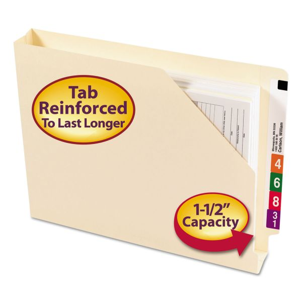 Smead 75740 Manila End Tab File Jackets with Reinforced Tab