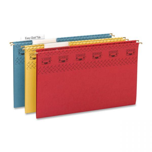 Smead TUFF Hanging File Folders with Easy Slide Tab