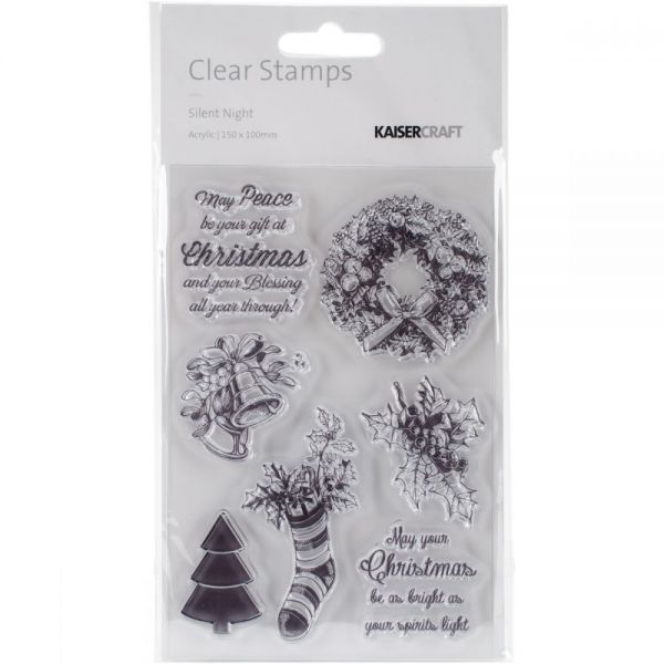 "Silent Night Clear Stamps 6""X4"""