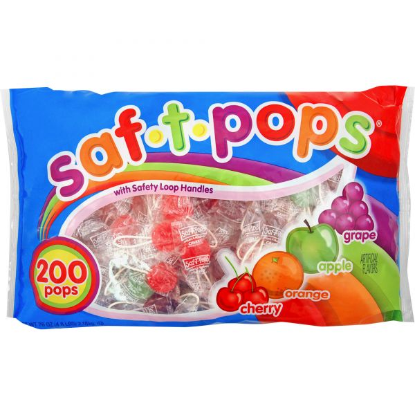 Saf-T-Pops Wrapped Lollipops (4.5 lbs)