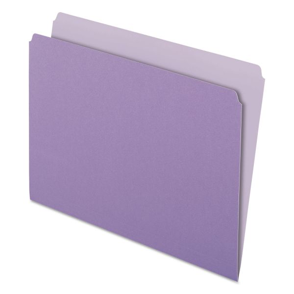 Pendaflex Purple Colored File Folders