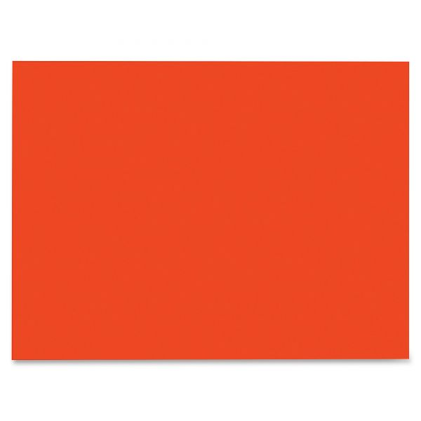 SunWorks Construction Paper, 58 lbs., 9 x 12, Orange, 50 Sheets/Pack