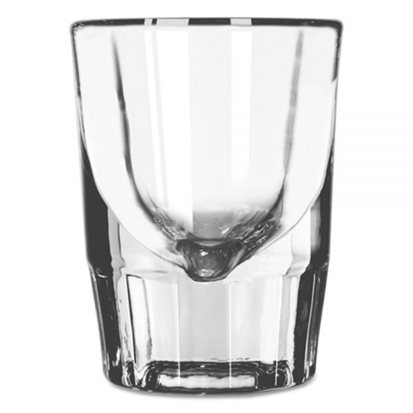 Libbey Whiskey Service Fluted Shot Glasses