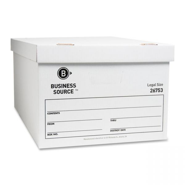 Business Source Light-Duty Storage Boxes With Lift-Off Lids