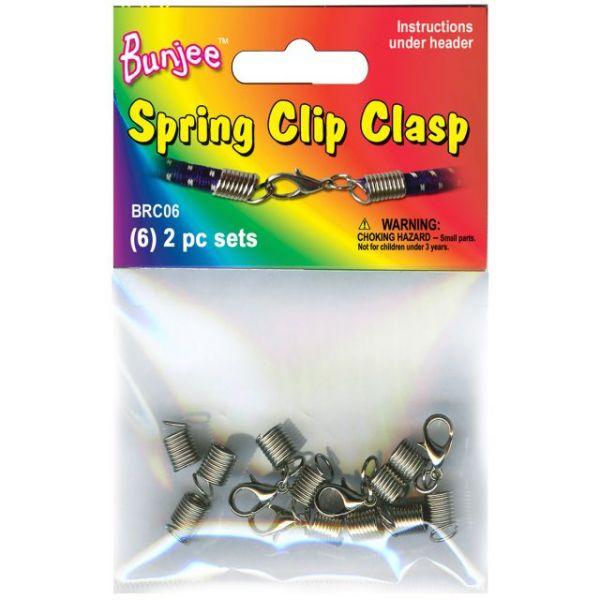 Bunjee Cord Bracelet Spring Clasps 6/Pkg