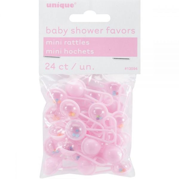 Party Favors Mini Rattles 24/Pkg